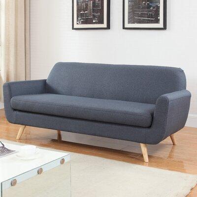 Mid-Century Sofa Upholstery: Dark Gray
