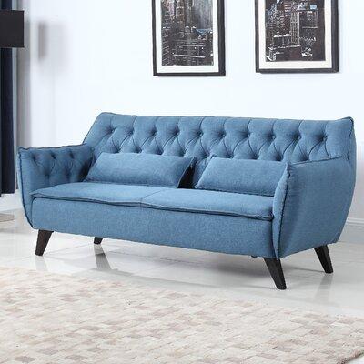 Mid-Century Modern Sofa Upholstery: Blue