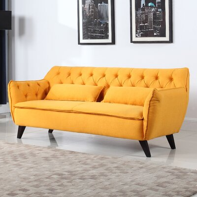 Slater Mill Mid-Century Modern Sofa Upholstery: Yellow