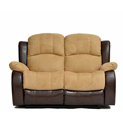 Traditional 2 Tone Reclining Loveseat Upholstery: Hazelnut