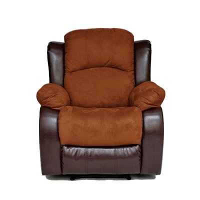 Traditional 2 Tone Manual Recliner Upholstery: Brown