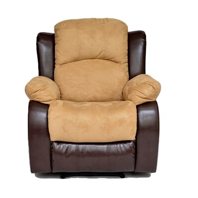Traditional 2 Tone Recliner Upholstery: Hazelnut