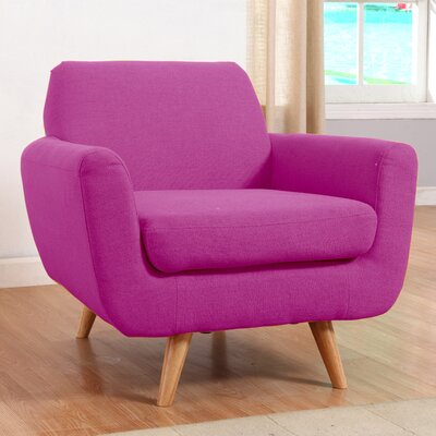 Mid-Century Modern Accent Arm Chair Upholstery: Purple