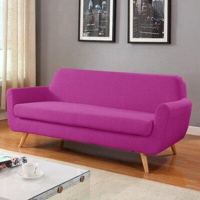 Mid-Century Sofa Upholstery: Purple