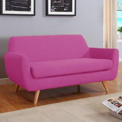 Mid-Century Loveseat Upholstery: Purple