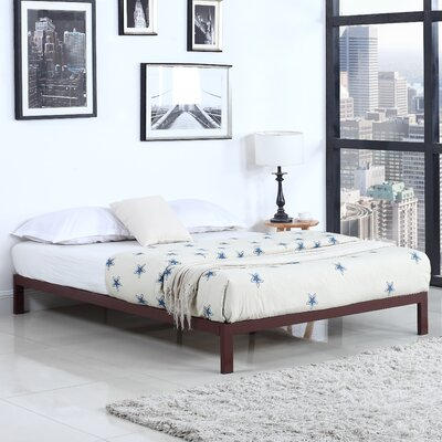 Modern Metal Platform Bed Frame Size: Queen