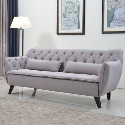 Mid-Century Modern Sofa Upholstery: Light Gray