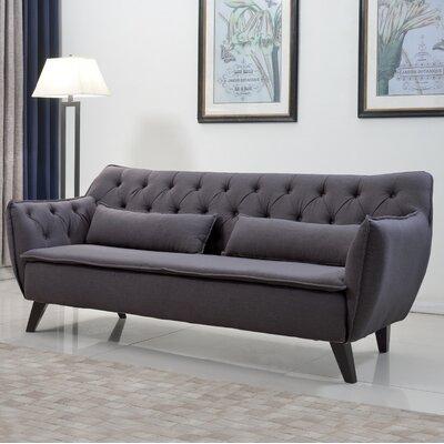 Mid-Century Modern Sofa Upholstery: Dark Gray
