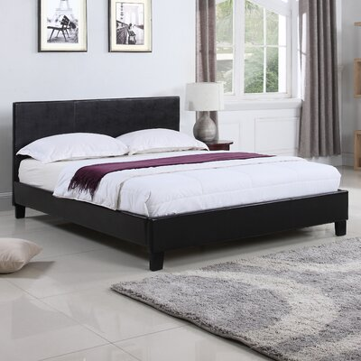 Classic Upholstered Platform Bed Size: Queen