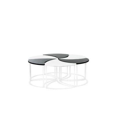Modern Outdoor Modular Coffee Table Top Finish: White/Back