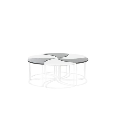 Modern Outdoor Modular Coffee Table Top Finish: White/Gray