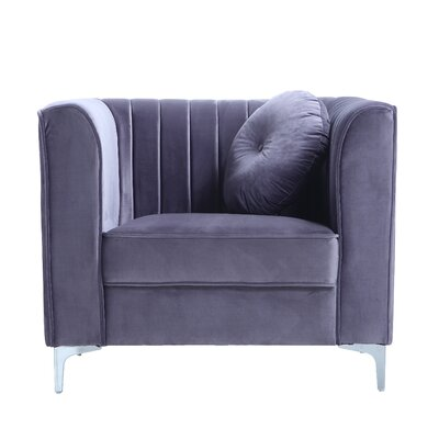 Armchair Upholstery: Gray