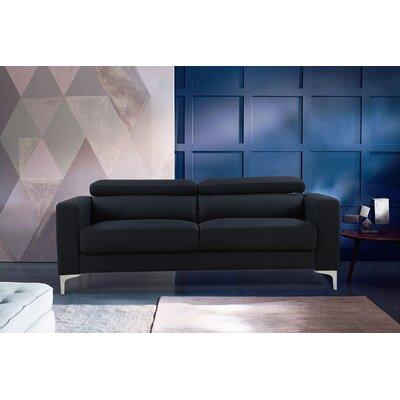 Dennis Modern Sofa Upholstery: Black