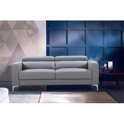 Dennis Modern Sofa Upholstery: Light Gray