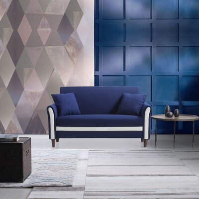 Modern Loveseat Color: Blue