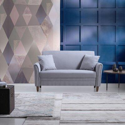 Modern Loveseat Color: Light Grey