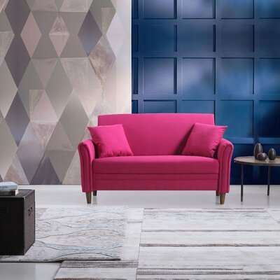 Modern Loveseat Color: Pink