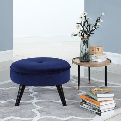 Beemer Ottoman Color: Navy