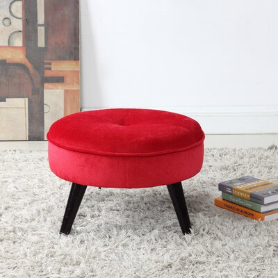Beemer Ottoman Color: Red