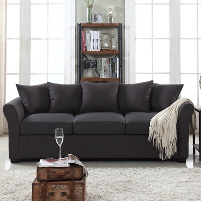 Fyffe Linen Sofa Upholstery: Dark Gray