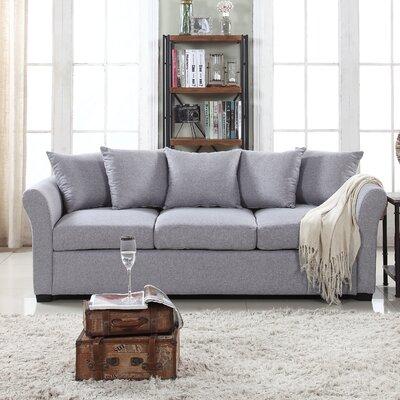 Harland Linen Sofa Upholstery: Gray