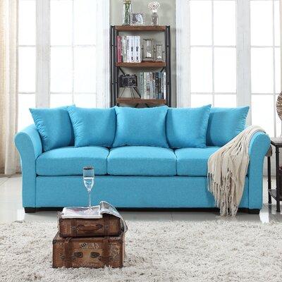 Harland Linen Sofa Upholstery: Blue