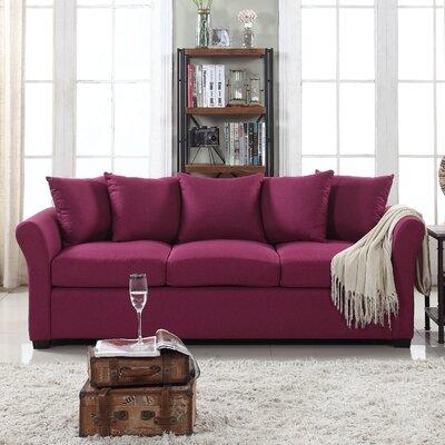 Harland Linen Sofa Upholstery: Purple