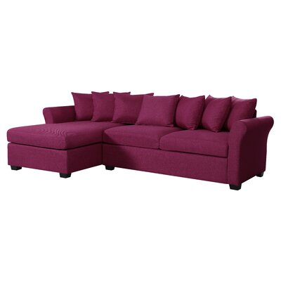 Aeryn Sectional Upholstery : Purple