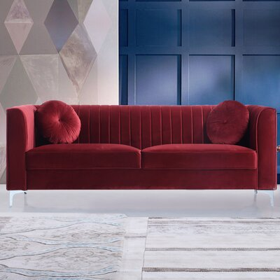 Mishti Sofa Upholstery: Red