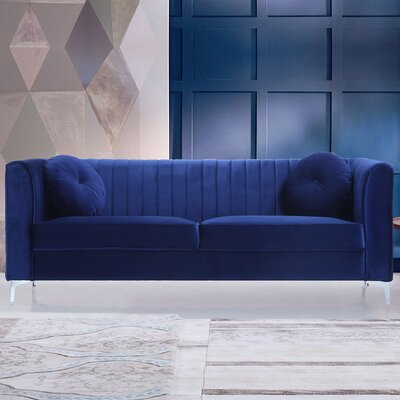 Sherill Traditional Sofa Upholstery: Blue