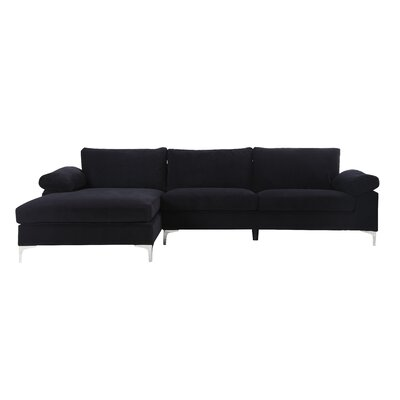 Kailey Modern Sectional Color: Black