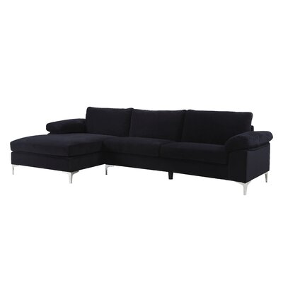 Remm Modern Sectional Color: Black
