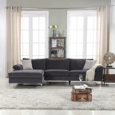 Kailey Modern Sectional Color: Grey