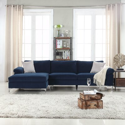 Kailey Modern Sectional Color: Navy
