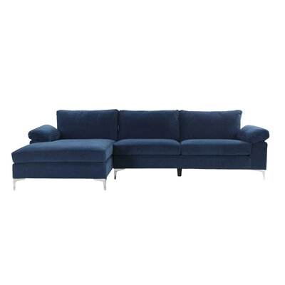 Remm Modern Sectional Color: Navy