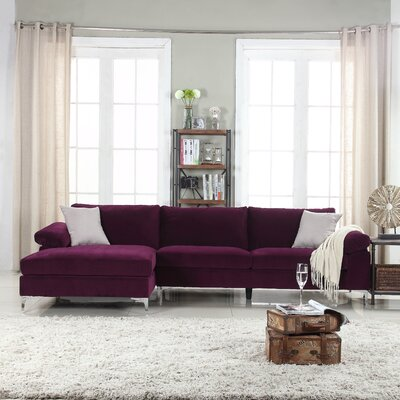 Kailey Modern Sectional Color: Purple