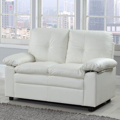 Kristyn Classic Loveseat Upholstery: White