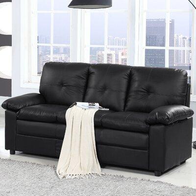 Austen Classic Sofa Upholstery: Black