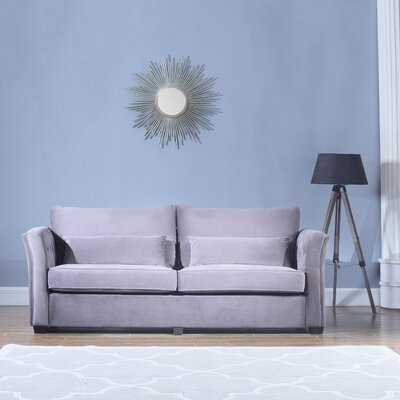 Alameda Traditional Velvet Fabric Sofa Upholstery: Gray