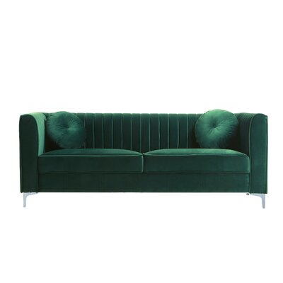 Sherill Sofa Upholstery: Green