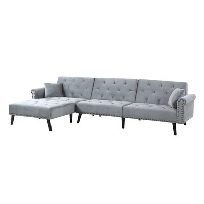 Salcombe Reversible Sectional Upholstery: Gray
