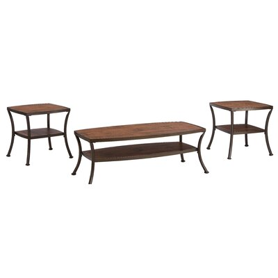Laverne Modern 3 Piece Coffee Table Set Color: Light Brown