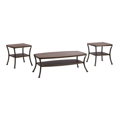 Laverne Modern 3 Piece Coffee Table Set Color: Rustic