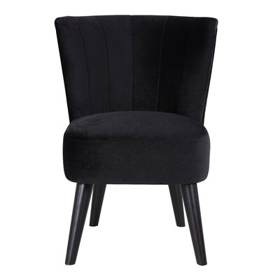 Vallecillo Traditional Living Room Barrel Chair Upholstery: Black