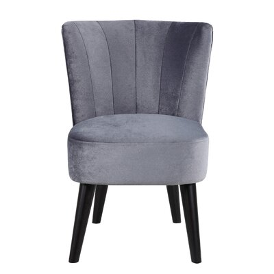 Vallecillo Living Room Barrel Chair Upholstery: Grey