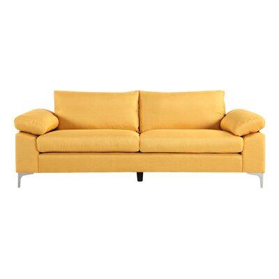Valletta Modern Living Room Standard Sofa Upholstery: Yellow
