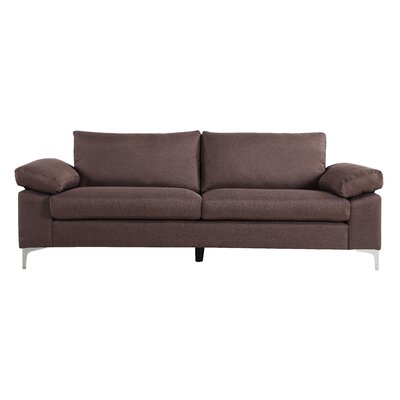 Valletta Modern Living Room Standard Sofa Upholstery: Brown