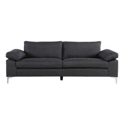 Valletta Modern Living Room Standard Sofa Upholstery: Dark Grey