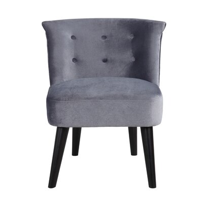 Crosier Plush Velvet Barrel Chair Upholstery: Gray