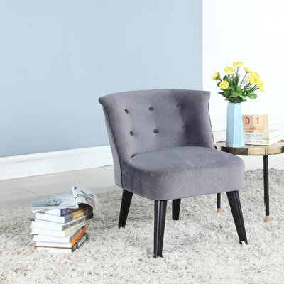 Crosier Plush Barrel Chair Upholstery: Gray
